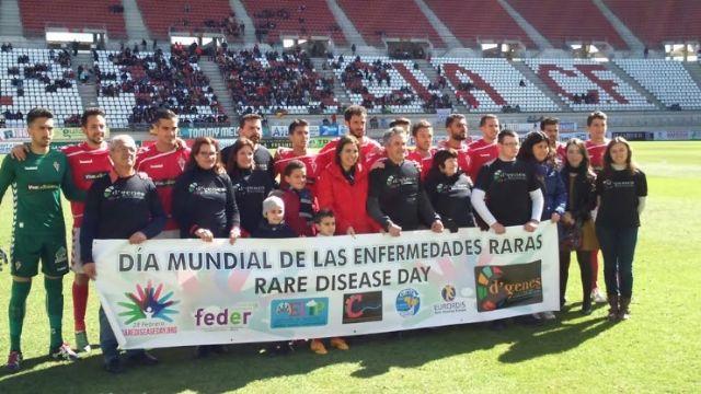 El Real Murcia contribuye a dar visibilidad a las Enfermedades Raras