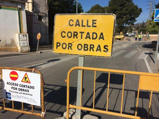 Comienzan las obras de reparación en la carretera C-7 de La Huerta tras los daños ocasionados por el temporal de lluvias