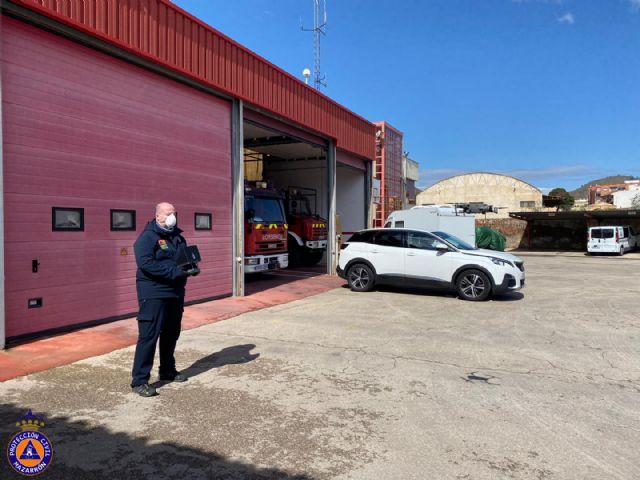 Protección Civil de Mazarrón prueba con éxito un sistema para tomar la temperatura corporal utilizando un dron - 2, Foto 2