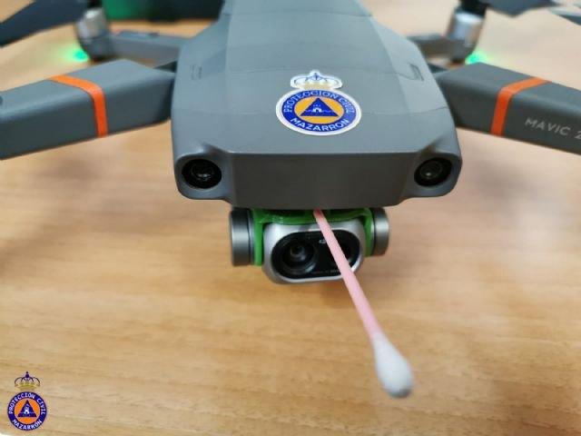Protección Civil de Mazarrón prueba con éxito un sistema para tomar la temperatura corporal utilizando un dron - 3, Foto 3