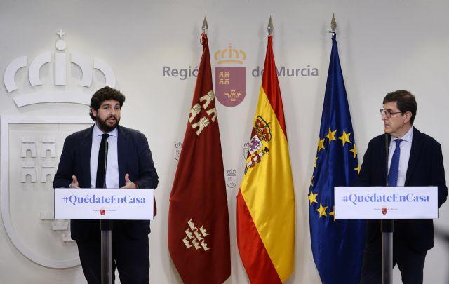 López Miras reclama a Sánchez que en el objetivo común de vencer al Covid-19 faltan los medios para lograrlo, que son lo más importante - 2, Foto 2