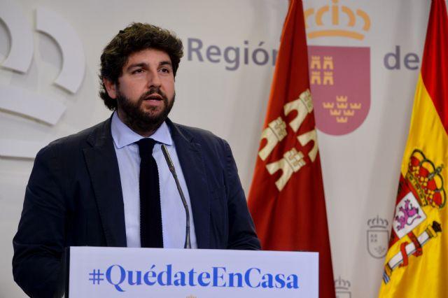 López Miras reclama a Sánchez que en el objetivo común de vencer al Covid-19 faltan los medios para lograrlo, que son lo más importante - 3, Foto 3