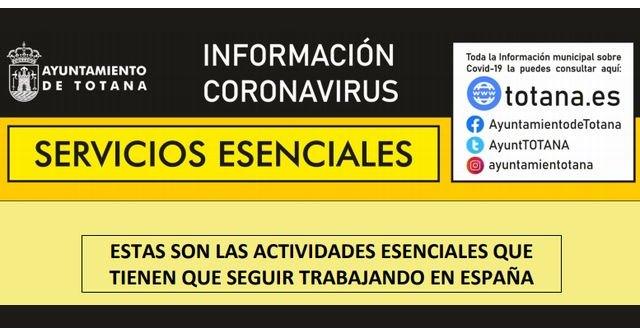 Servicios Esenciales. Estas son las actividades esenciales que tienen que seguir trabajando en España - 1, Foto 1