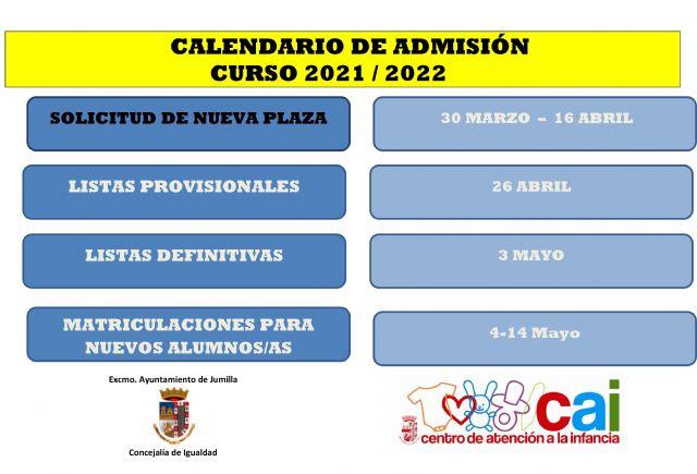 Mañana se abre el plazo de solicitud de plazas en el Centro de Atención a la Infancia El Arsenal para el curso 2021/22 - 2, Foto 2