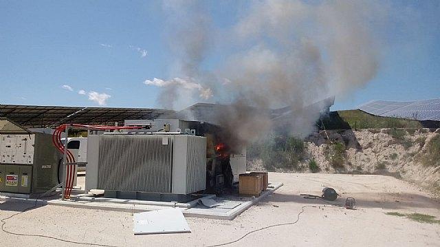 Incendio en una planta fotovoltaica en Mula - 1, Foto 1