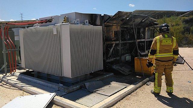 Incendio en una planta fotovoltaica en Mula - 2, Foto 2