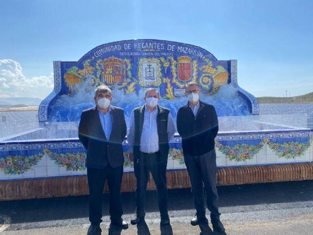 El presidente de la CHS ha visitado la Desaladora Virgen del Milagro de la CR de Mazarrón, Foto 1