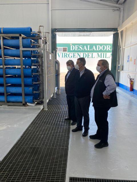 El presidente de la CHS ha visitado la Desaladora Virgen del Milagro de la CR de Mazarrón, Foto 4