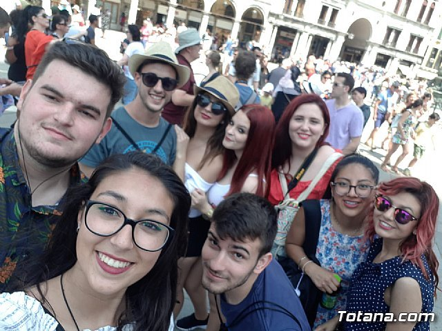 """A group of IES students """"Prado Mayor"""" are in Rimini (Italy) as part of the ERASMUS + project"""