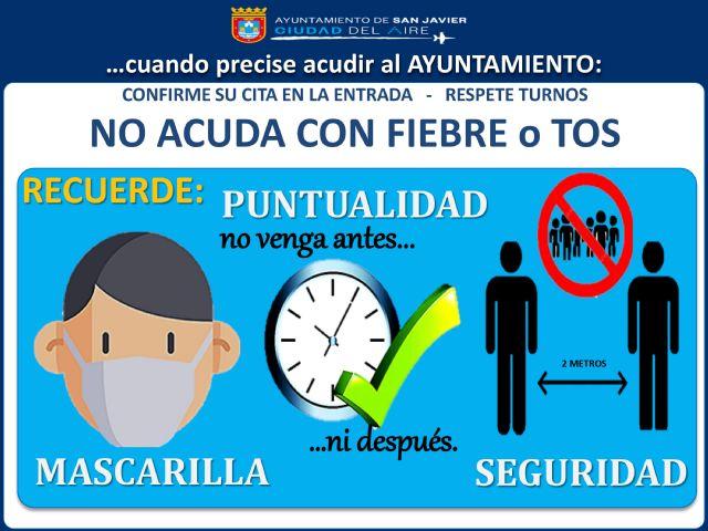 San Javier El Ayuntamiento De San Javier Recupera La Atención Presencial A Partir Del Próximo Lunes 1 De Junio Murcia Com