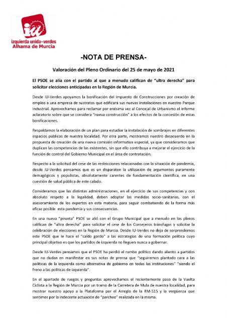 El PSOE se alía con el partido al que a menudo califican de ultra derecha para solicitar elecciones anticipadas en la Región de Murcia - 1, Foto 1