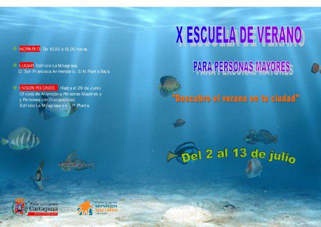 Los mayores cartageneros participarán del 2 al 13 de julio en la Escuela de Verano - 1, Foto 1