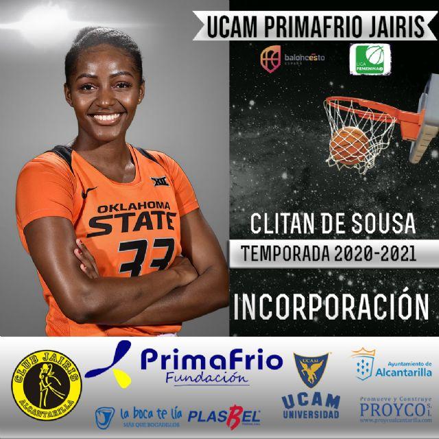 Clitan de Sousa nueva incorporación del UCAM Primafrio Jairis de LF2 - 1, Foto 1