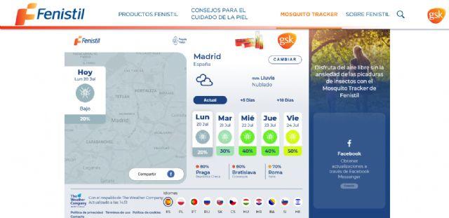 Fenistil lanza 'Mosquito tracker', una herramienta web para conocer la incidencia de mosquitos en cualquier zona del mundo - 1, Foto 1