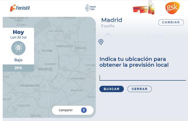 Fenistil lanza 'Mosquito tracker', una herramienta web para conocer la incidencia de mosquitos en cualquier zona del mundo - 2, Foto 2