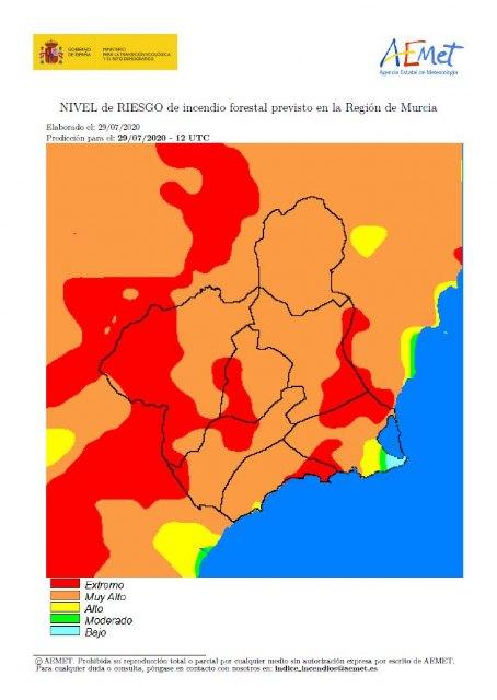 El riesgo de incendio forestal en Cieza es muy alto este miércoles - 1, Foto 1