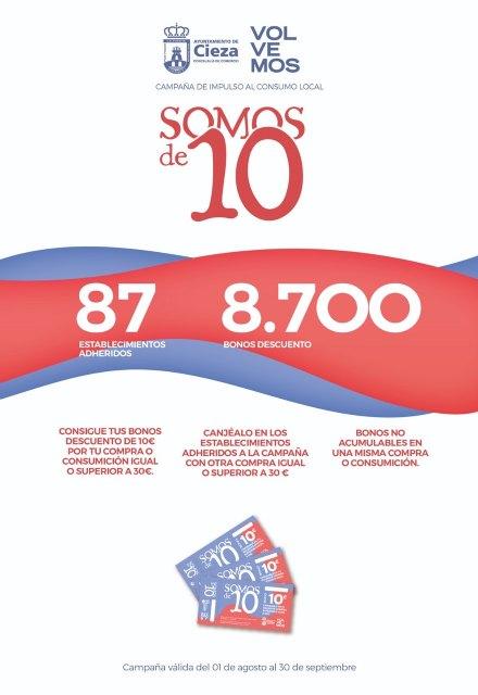 Ochenta y siete establecimientos se adhieren a la campaña de Comercio SOMOS DE 10 - 1, Foto 1