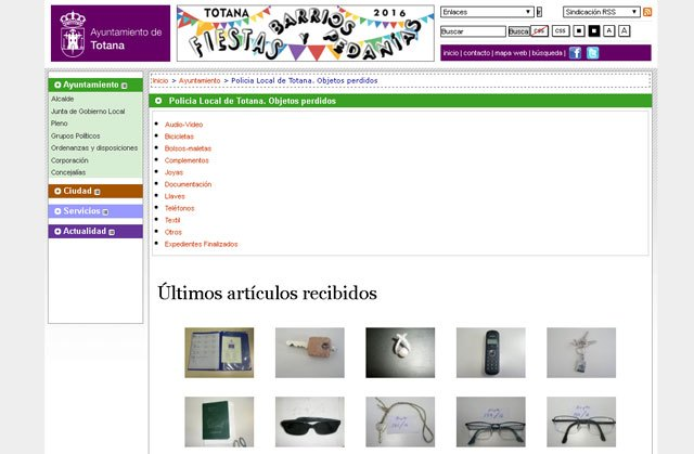 """The section """"Lost and Found"""" by Totana.es receives almost 5,700 queries from its operation"""