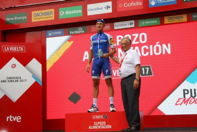 ElPozo Alimentación acoge con éxito la décima etapa de La Vuelta a España en sus instalaciones, Foto 1