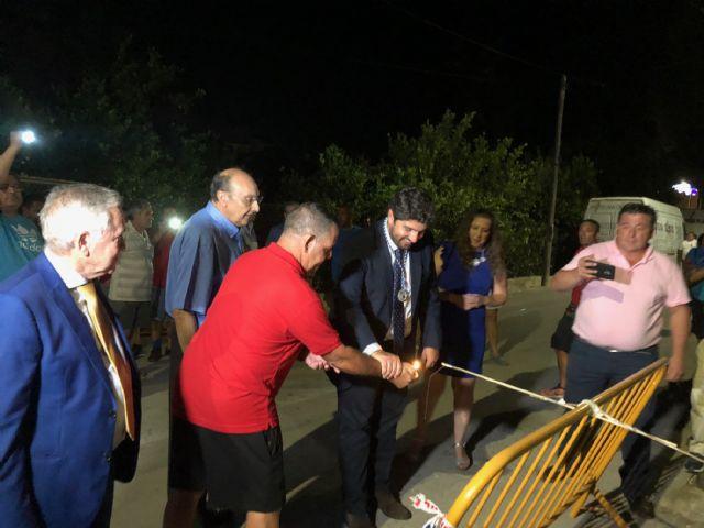 López Miras asiste a la cohetada con motivo de las fiestas patronales de Ojós - 1, Foto 1