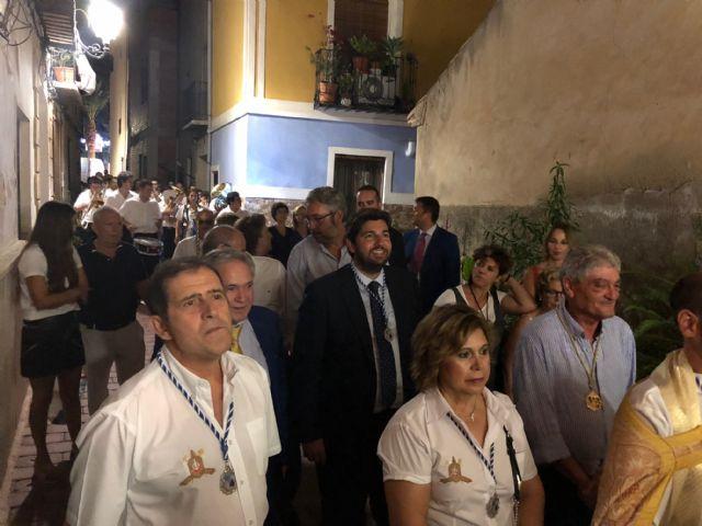 López Miras asiste a la cohetada con motivo de las fiestas patronales de Ojós - 2, Foto 2