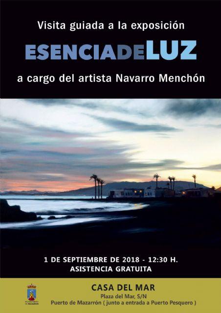 Navarro Menchón ofrece una visita guiada a su exposición de la Casa del Mar, Foto 1