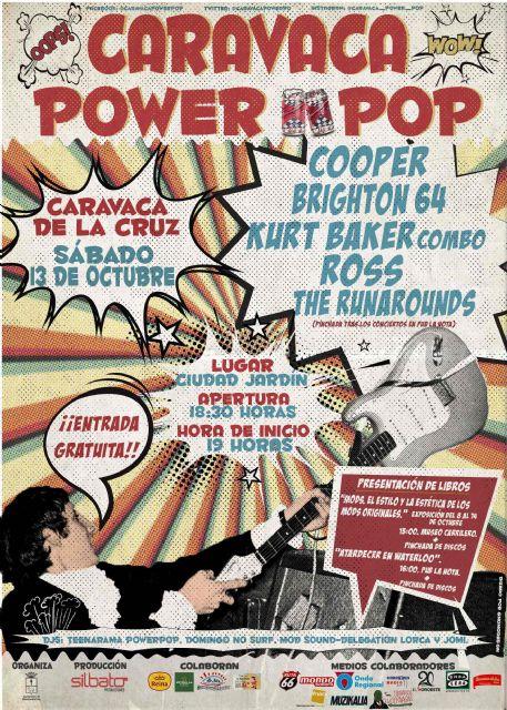 'Caravaca Power Pop' se celebra el 13 de octubre con cinco conciertos, presentaciones de libros y pinchadas de vinilos - 3, Foto 3