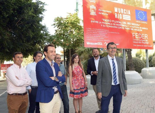 El Ayuntamiento inicia las obras del paseo fluvial de 20.000 m2 que vertebrará ´Murcia Río´ - 1, Foto 1