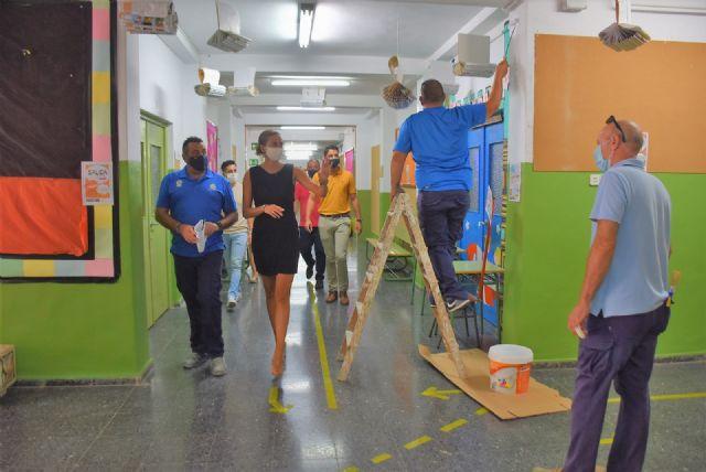 Continúa la limpieza y desinfección intensa de colegios y centros educativos de Archena - 1, Foto 1