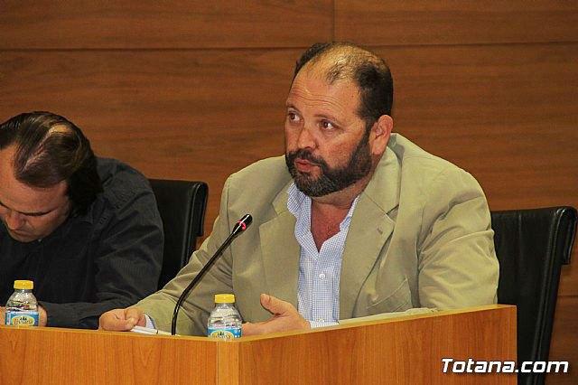 Juan Carlos Carrillo Ruiz durante el pleno de anoche / Totana.com, Foto 1