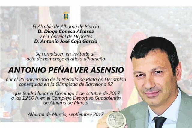 Acto conmemorativo a Antonio Peñalver por el 25º aniversario de su plata olímpica, Foto 2