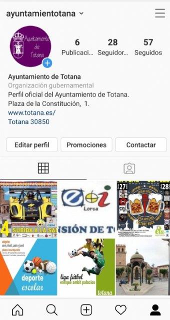 Totana City Council opens an official Instagram account