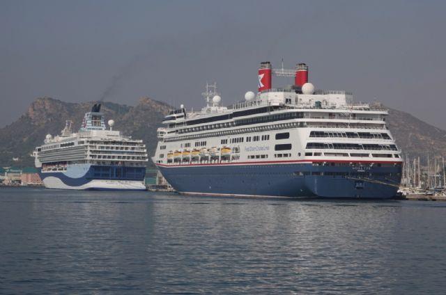 El Puerto de Cartagena recibe la primera doble escala de cruceros de 2021 con cerca de 1000 turistas - 1, Foto 1