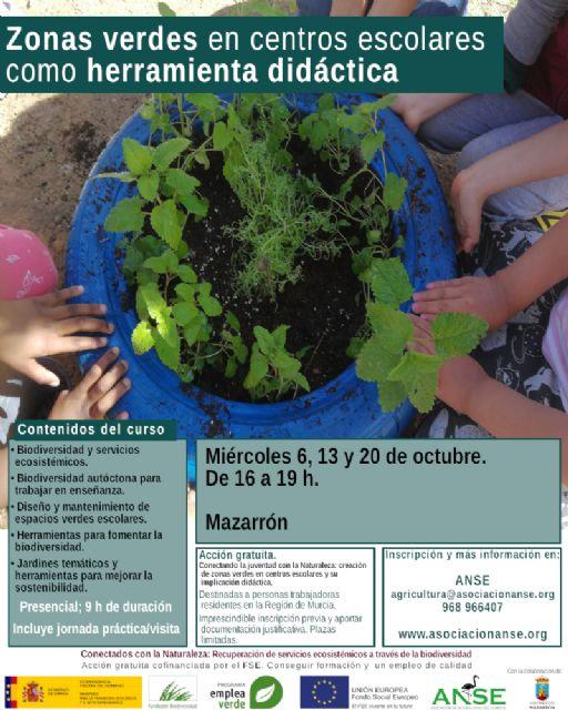 ANSE y el Ayuntamiento de Mazarrón ponen en marcha un curso para integrar la biodiversidad en centros educativos, Foto 4