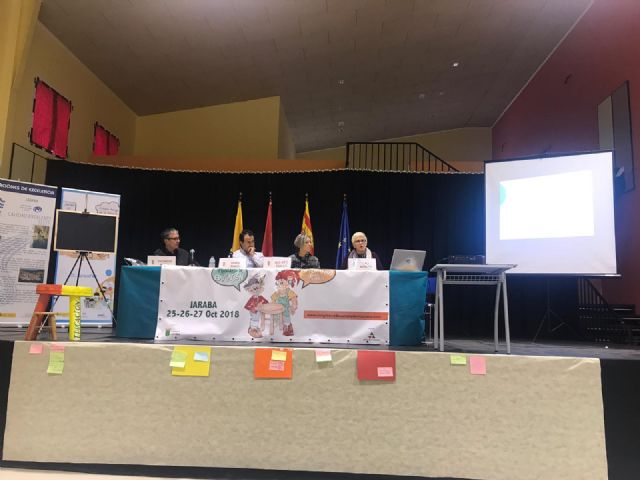 The Councilor for Education presents the experiences of the Totana Children's Plenary in the II Congress of Education in Active Democracy, - 2