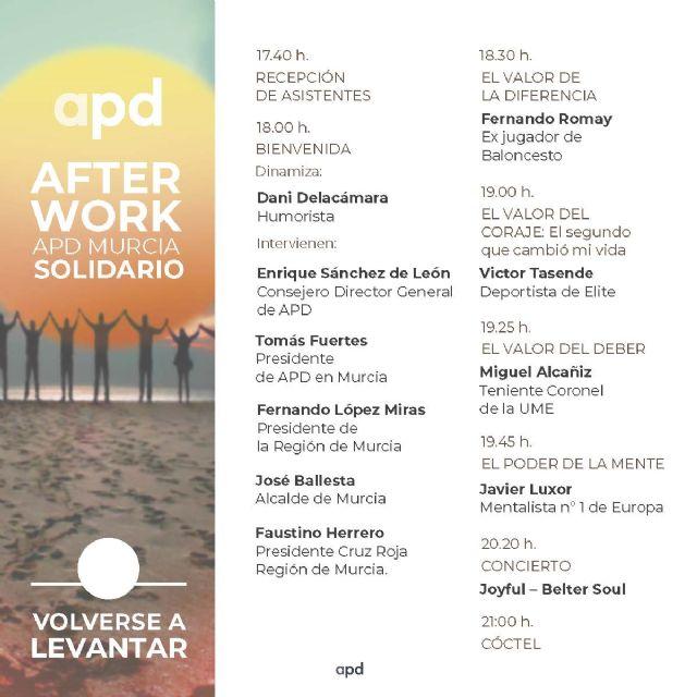 APD organiza un afterwork solidario en beneficio de los damnificados de la DANA en Murcia - 4, Foto 4