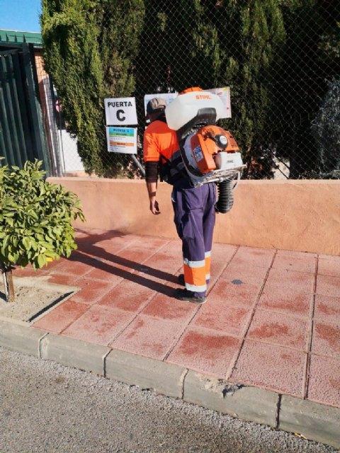 Continúan las labores de desinfección en Mula y pedanías - 1, Foto 1