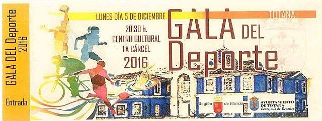 Mañana miércoles finaliza el plazo para retirar las invitaciones de la GALA DEL DEPORTE