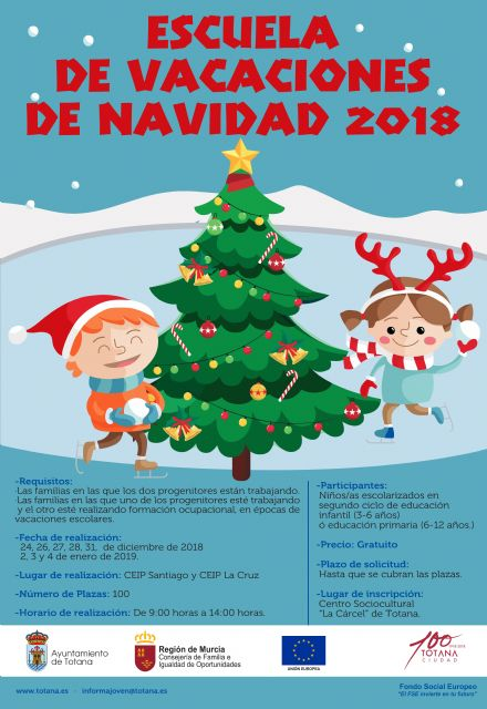 """The Christmas School, reconciliation service for work and family life in the next school holidays, will be held from December 24 to January 4, by """"El Candil"""", Foto 2"""