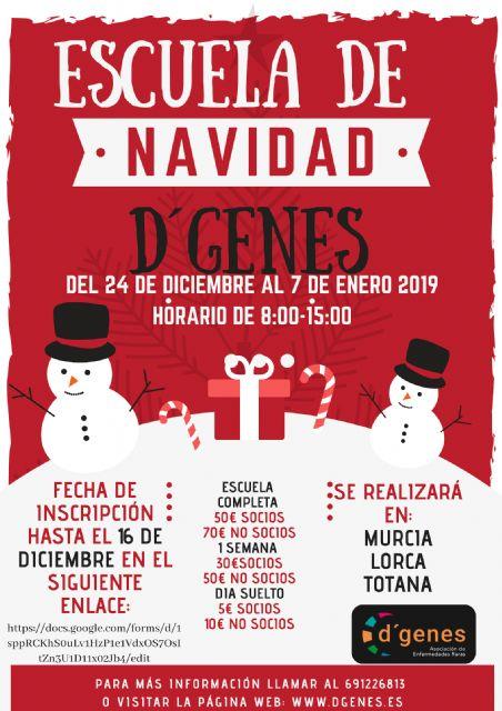 D´Genes oferta una Escuela de Navidad en sus centros de Totana, Murcia y Lorca