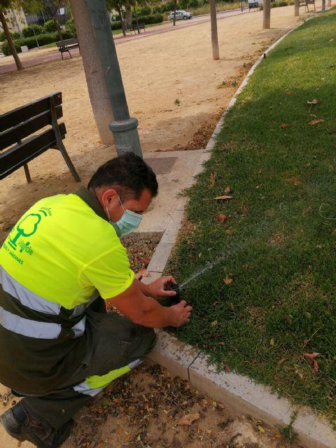 El Ayuntamiento utiliza sistemas Smart City para ahorrar agua en el riego de más de 700.000 metros cuadrados de praderas de césped en Murcia - 3, Foto 3