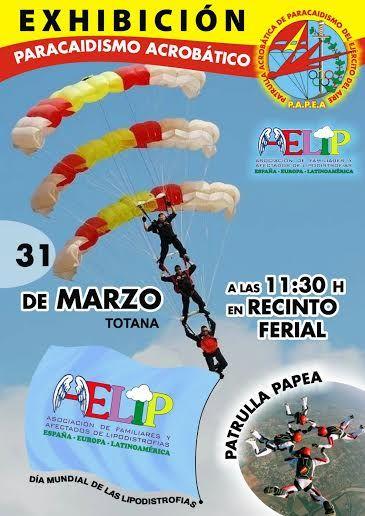 La patrulla acrobática de paracaidismo del ejército del aire ofrecerá una exhibición en Totana