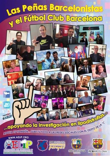 La Peña Totana Barcelonista and FC Barcelona support research on lipodystrophy, Foto 1