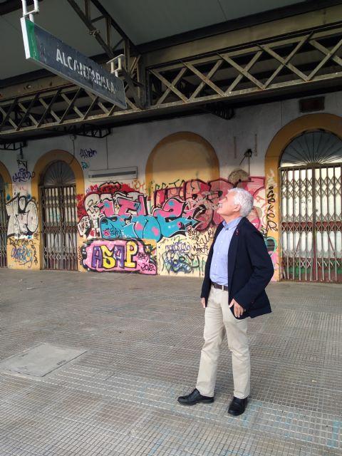 El PSOE solicita al PP un informe sobre las actuaciones realizadas con ADIF para la recuperación y rehabilitación de la estación de tren de Alcantarilla-Villa - 1, Foto 1