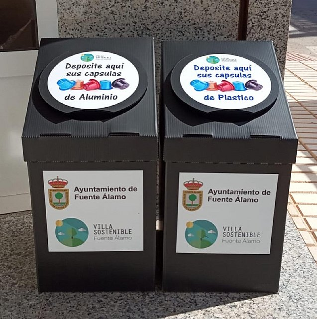 Los contenedores de reciclaje de cápsulas de café llegan a Fuente Álamo - 1, Foto 1