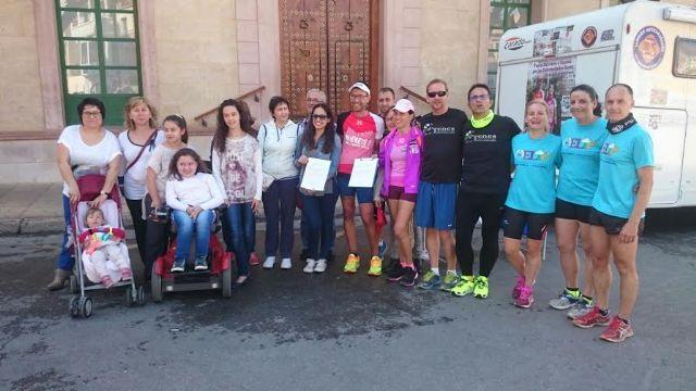 Totana acoge el final de la décima etapa de la Vuelta Solidaria a España por las Enfermedades Raras