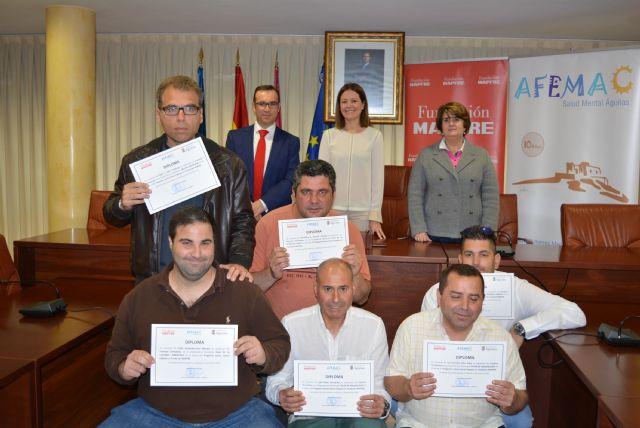 El Ayuntamiento de Águilas, Mapfre y Afemac renuevan el convenio de inserción laboral de jóvenes con discapacidad intelectual y enfermedad mental - 1, Foto 1
