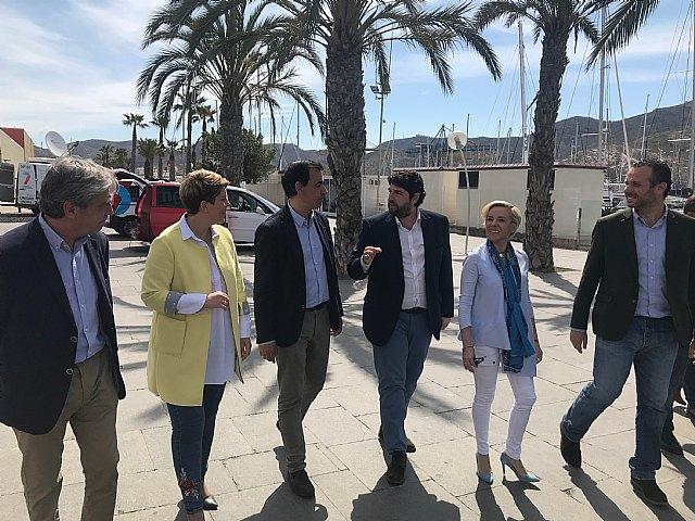 López Miras: Necesitamos devolver la dignidad a Cartagena con un proyecto como el del PP, que empuje y continúe liderando el crecimiento económico - 1, Foto 1