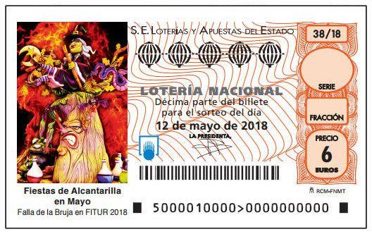 Las Fiestas de Alcantarilla en Mayo protagonizan el décimo de Lotería Nacional del 12 de mayo - 1, Foto 1
