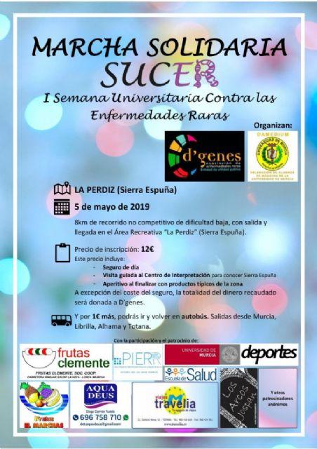 El próximo 5 de mayo se celebrará en Sierra Espuña la Marcha Solidaria SUCER